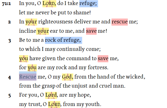 For you, O Lord, are my hope, - my trust, O Lord, from my youth Psalm 71:5