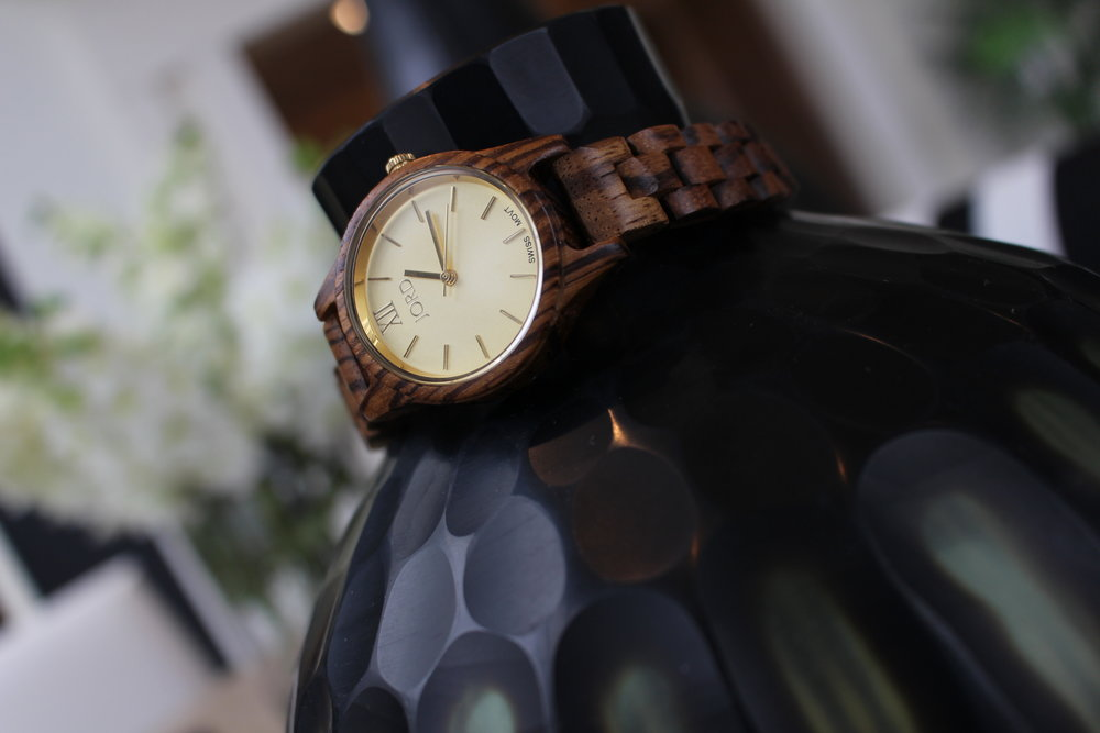 I absolutely love my Zebrawood & Champagne JORD watch! Goes with just about anything.