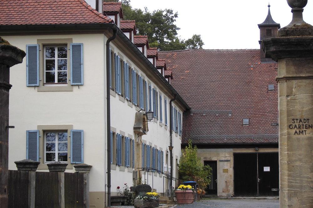 Im ehemaligen Schlösschen Meyernberg ist heute das Stadtgartenamt untergebracht. (Foto: Berg)