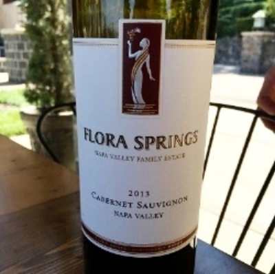 2013 Flora Springs Cabernet Sauvignon at the estate in St. Helena.