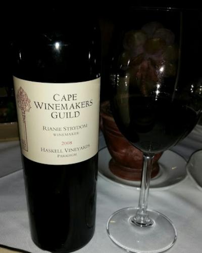 Brought to Helena's Restaurant in downtown Stellenbosch.