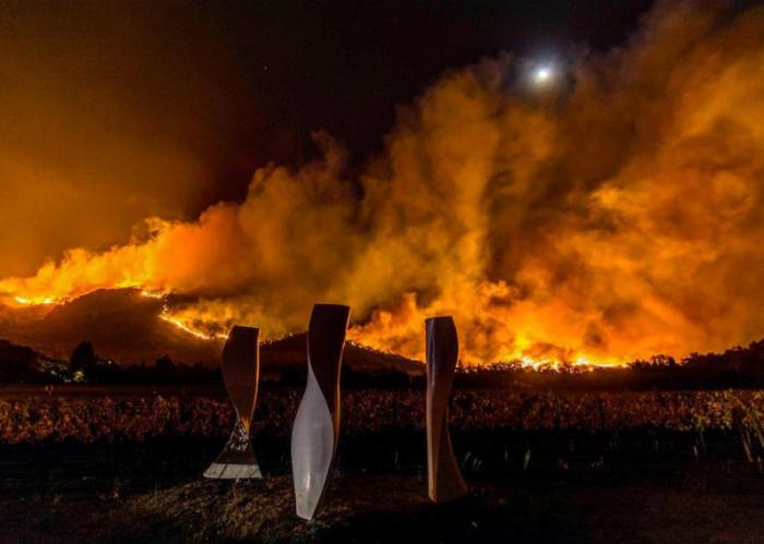 Fires in Napa