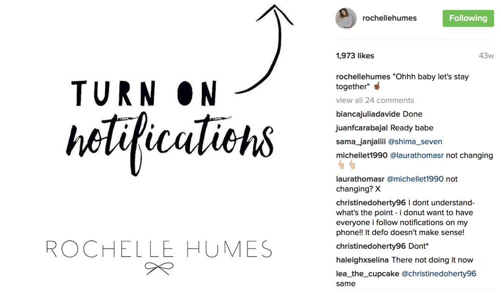 Rochelle Hume's Instagram Post