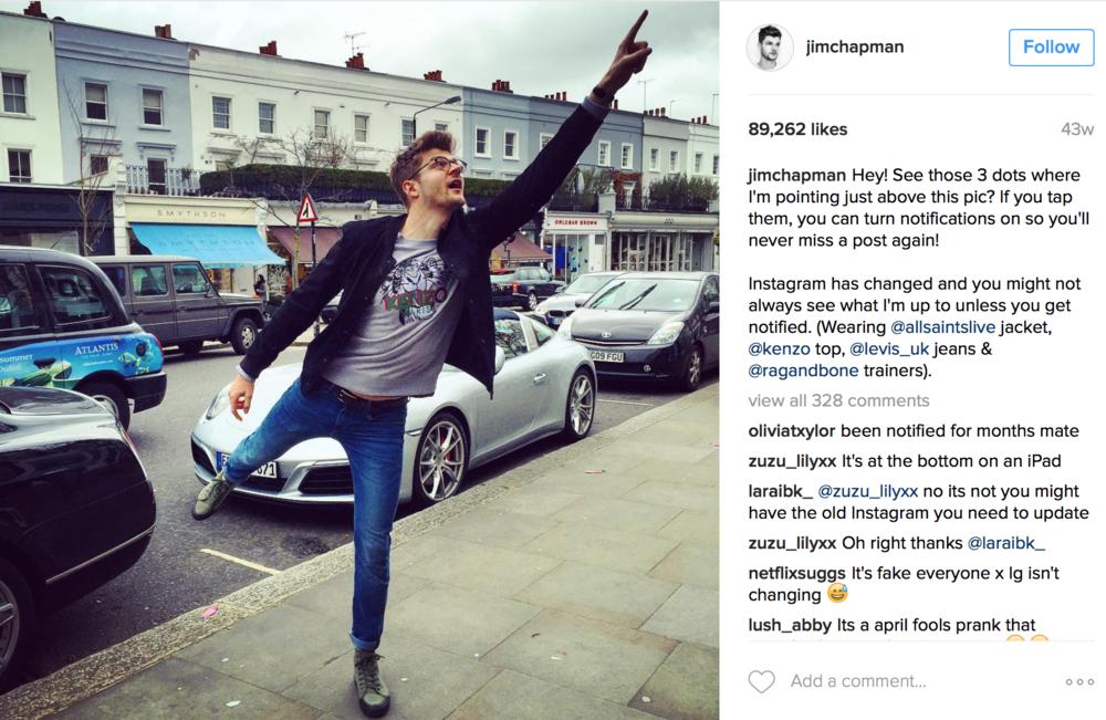 Jim Chapman's Instagram Post
