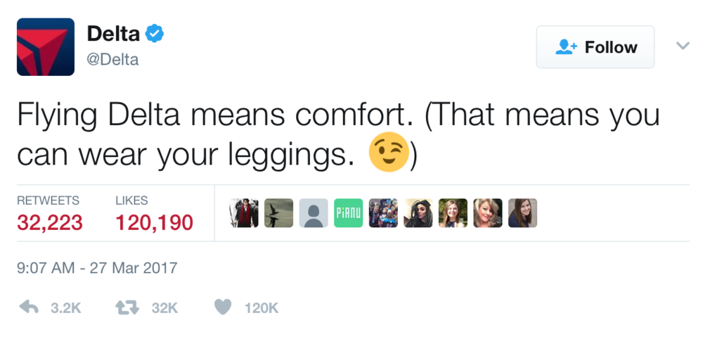 Delta Tweet About United Airlines