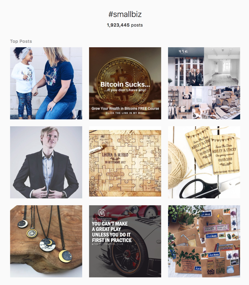 #smallbiz hashtag on Instagram