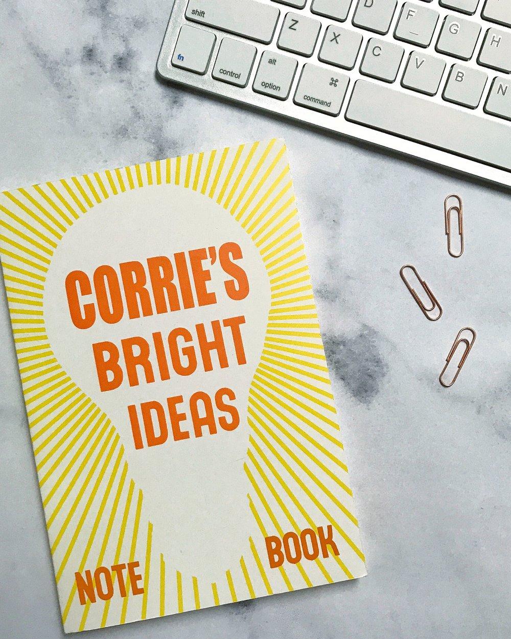 Corrie's bright ideas