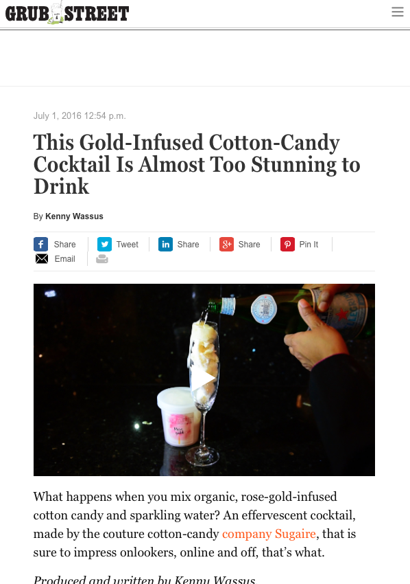 Grubstreet | This Gold-Infused Cotton-Candy Cocktail Is Almost Too Stunning to Drink