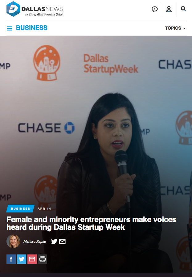 Dallas Morning News | Female and minority entrepreneurs make voices heard during Dallas Startup Week