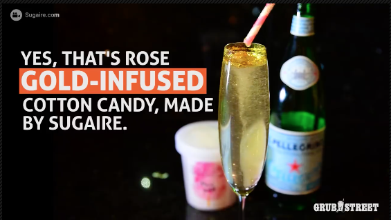 Grubhub | MAKE YOUR LIFE SWEETER - THE COTTON CANDY ROSE GOLD INFUSION BY SUGAIRE ORGANIC COTTON CANDY