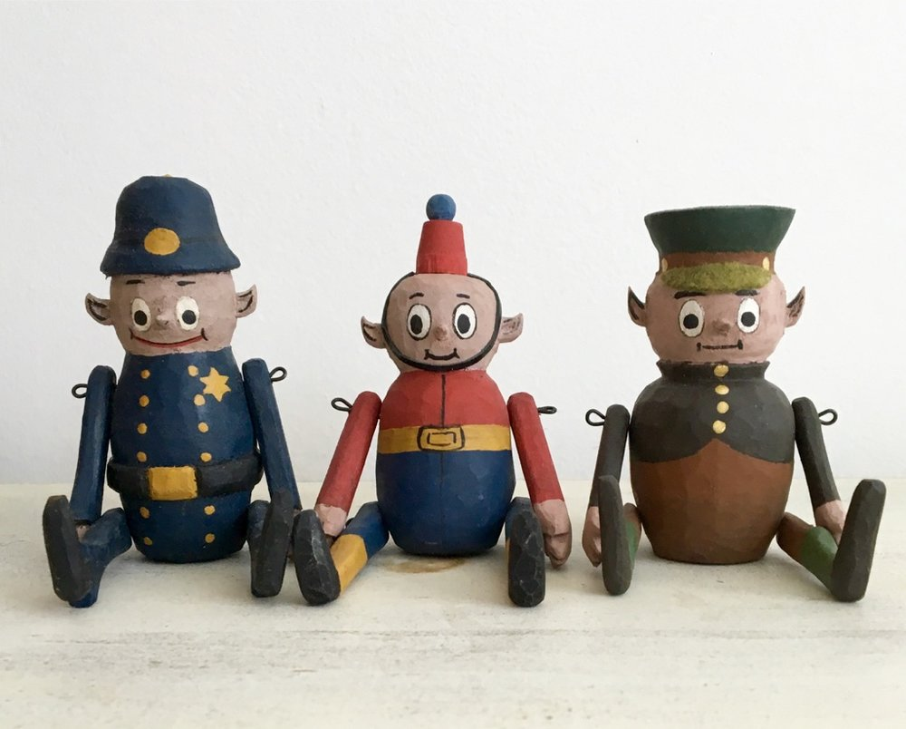 Patrolman Moveon, Soldier, and Major Telloff :  To add these to your collection, email us from the contact page.