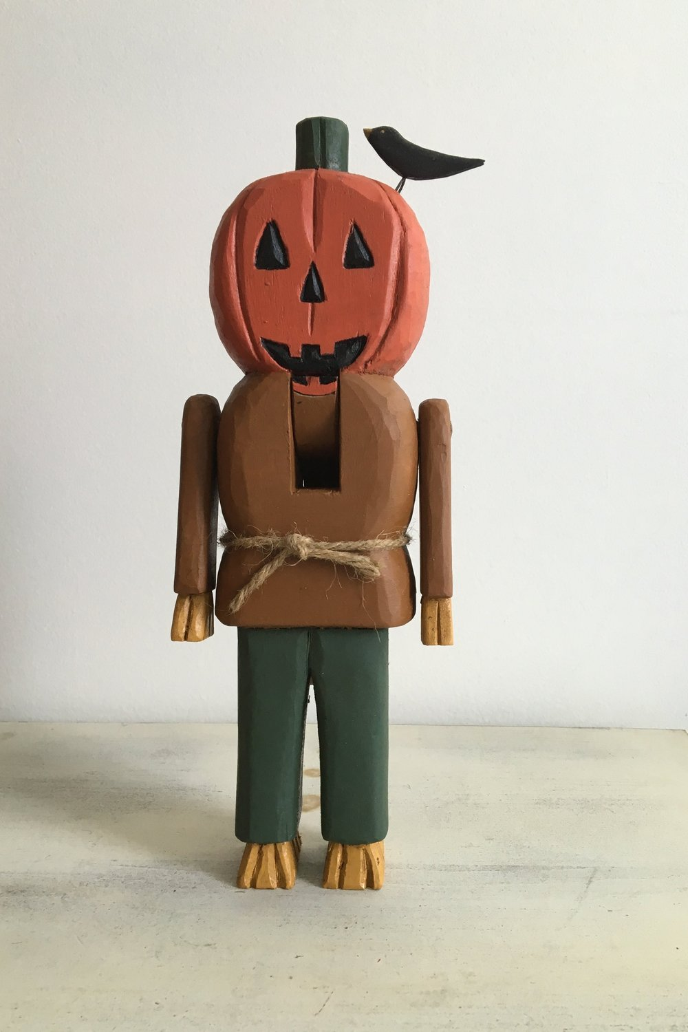 Pumpkin Man with a Crow  : To add this piece   to your collection, you can email us through the contact page.