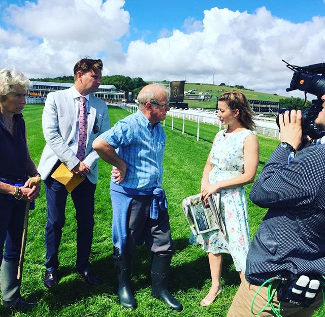 #TBT to 'Glorious Goodwood' where Hayley Turner spoke with Clerk of the Goodwood Course, Seamus Buckley live on @goodwood_races Facebook #GloriousGoodwood #Horses