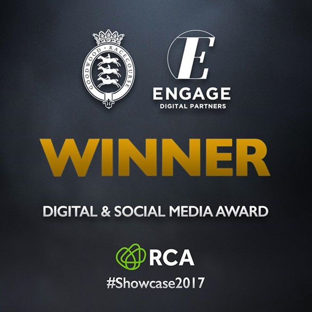 Thrilled to have been part of the @goodwood_races team who won the #Showcase2017 RCA Showcase Award for Digital and Social Media Excellence tonight!