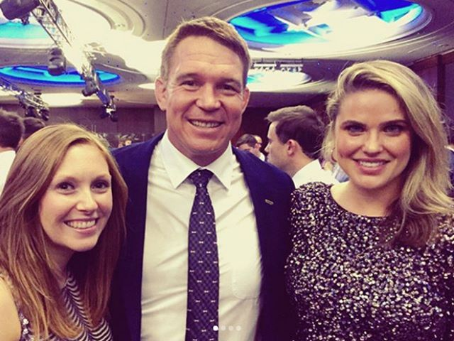 Ladies of Engage with rugby hero John Smit at last night's #rugbycenturions dinner
