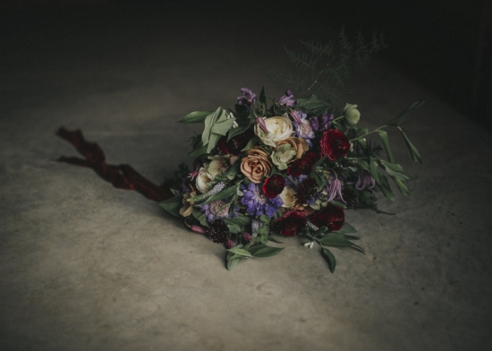 ethereal and moody wedding bouquet