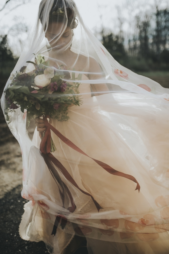 Tangled in your wedding day veil