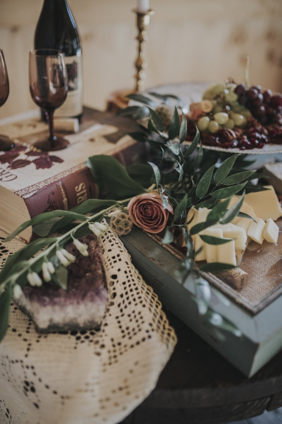 Wedding cheese and wine