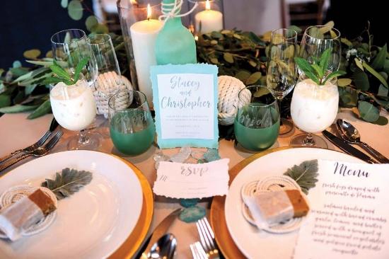 sweetheart table glam beach
