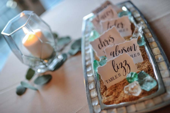 beach table numbers - escort cards