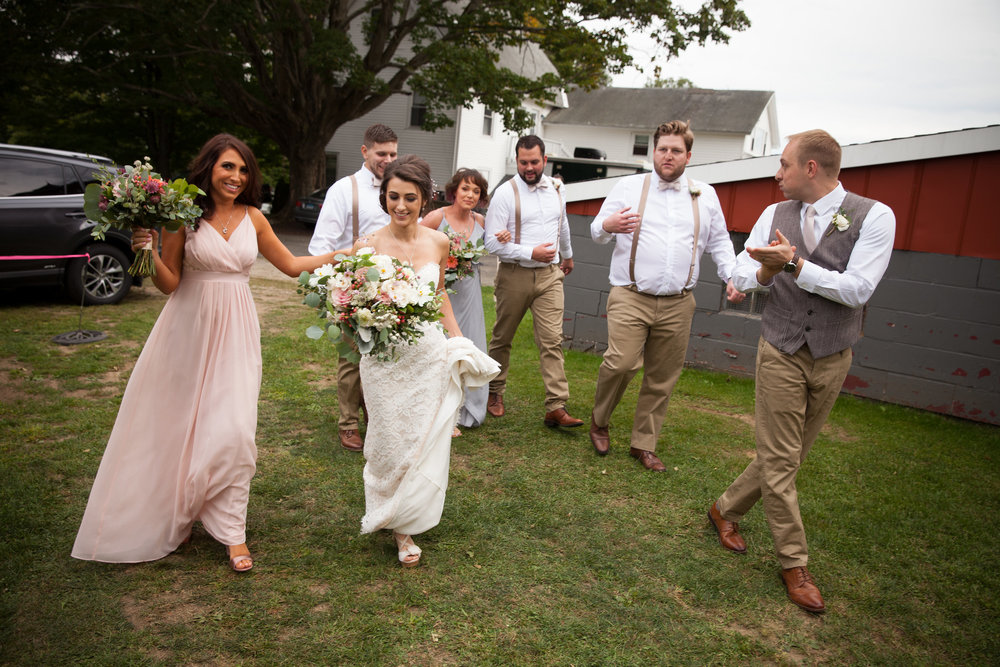 Wedding party after the ceremony - wedding planner