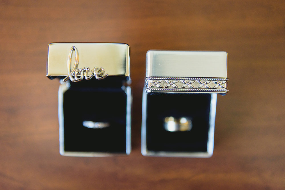 Wedding bands & boxes - Pearl Weddings & Events