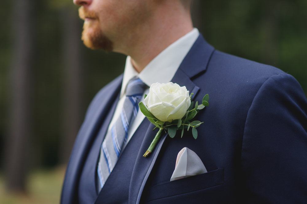 grooms boutonniere - Pearl Weddings and Events
