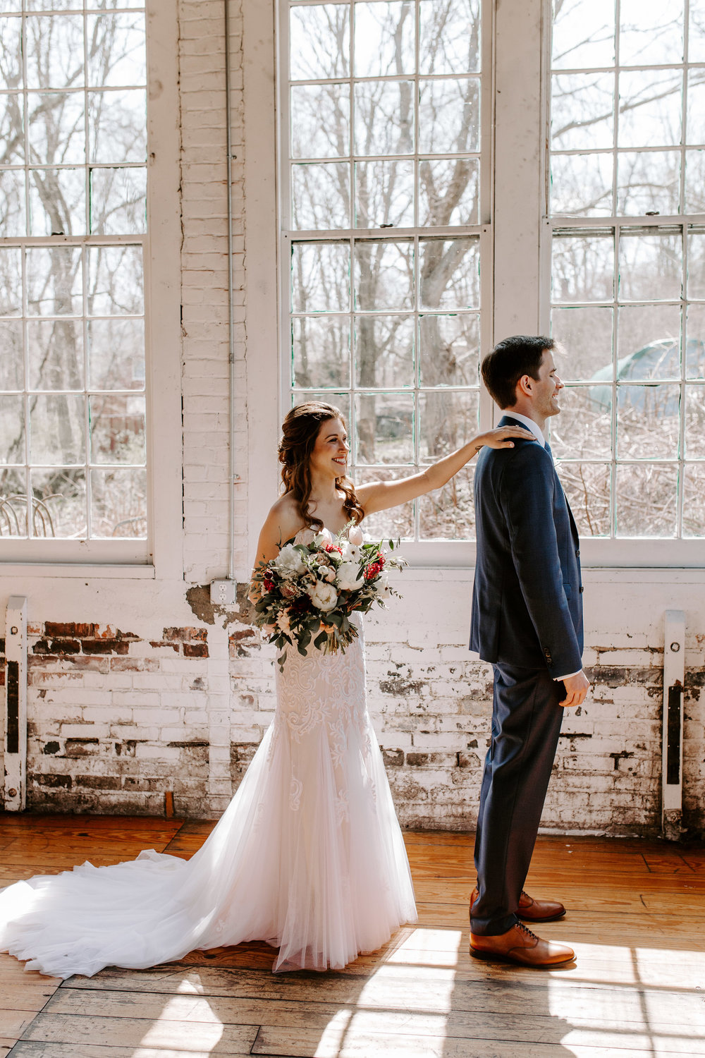 First look ideas! Mindy & Patricks Wedding at The Lace Factory - Pearl Weddings & Events