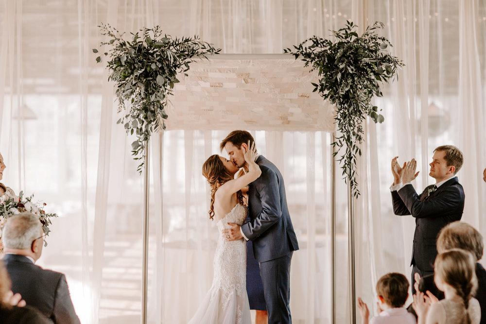 Wedding ceremony kiss! - Pearl Weddings & Events