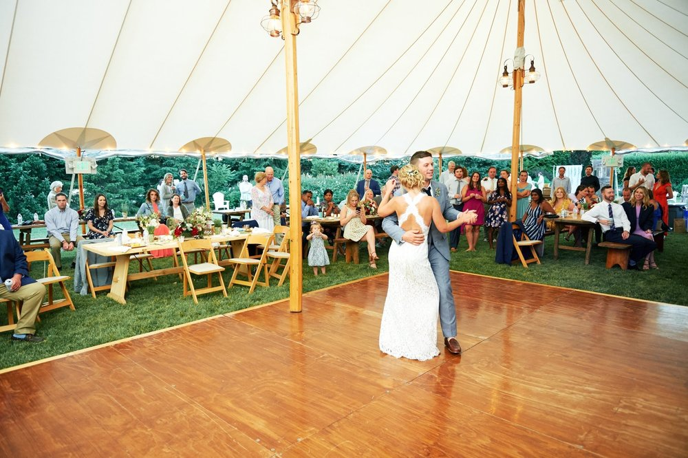 Ananda & Jason's Farmers Daughter tented wedding in Rhode Island - Pearl Weddings & Events