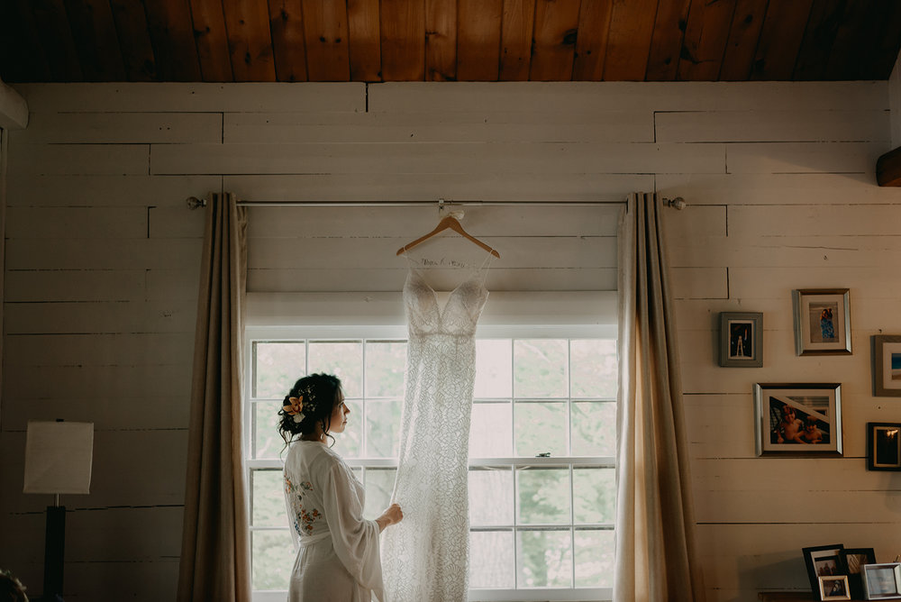 Bride with her gown on her wedding day! - Pearl Weddings & Events