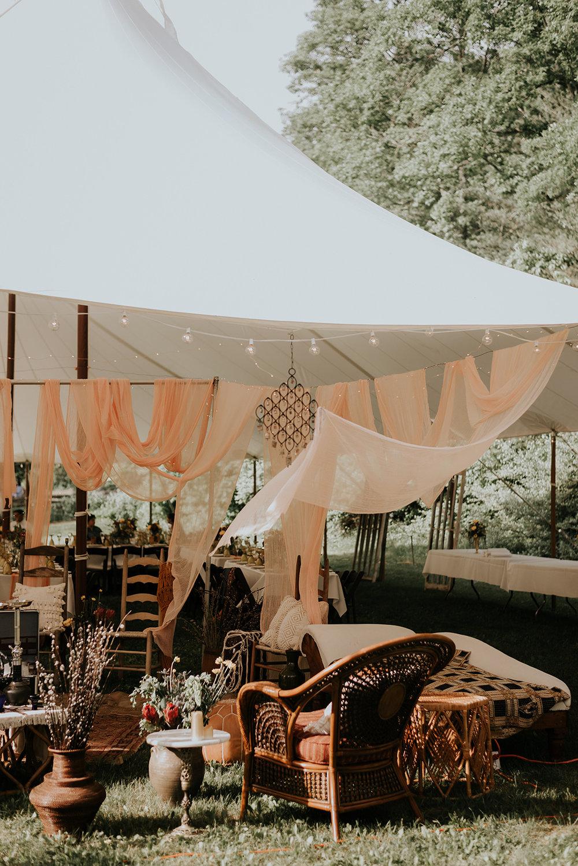 Wedding hookah lounge underneath the tent - Pearl Weddings & Events