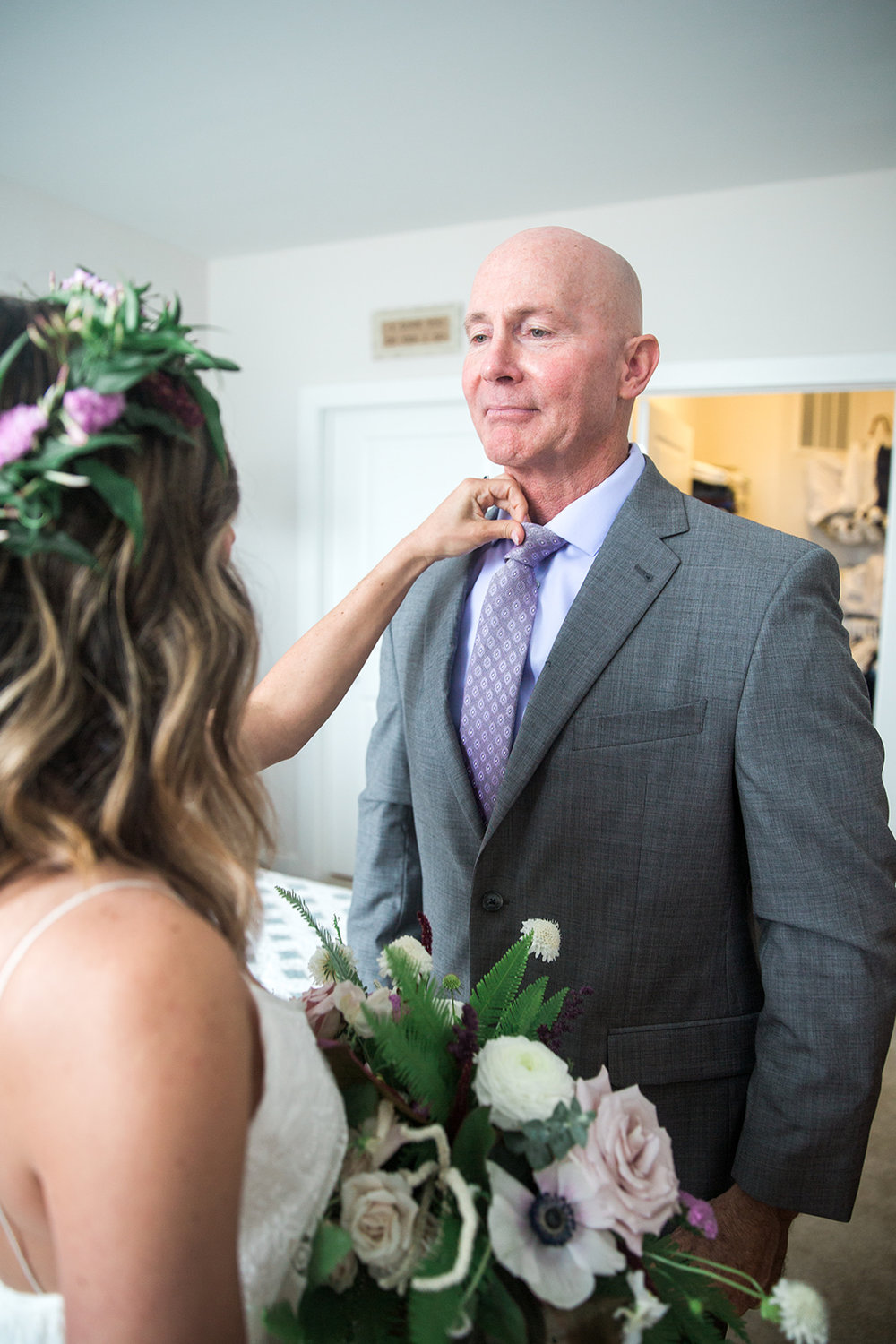 Bride and father of the bride getting ready - Pearl Weddings & Events