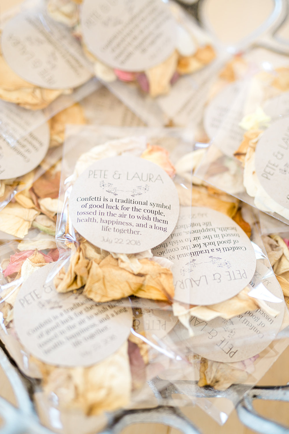 Dried flower confetti by Framed Florals - Pearl Weddings & Events