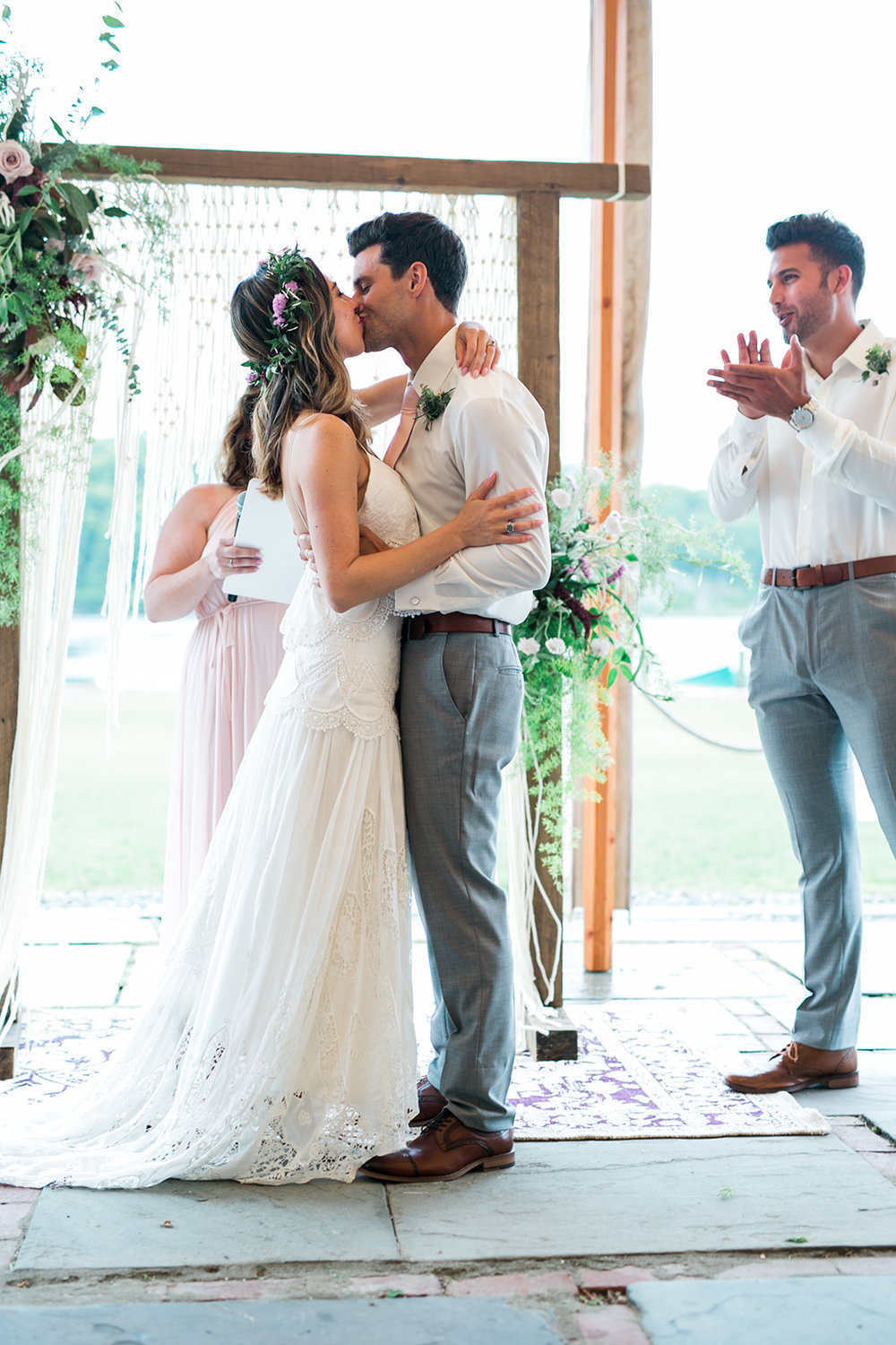 First kiss as husband and wife - Pearl Weddings & Events