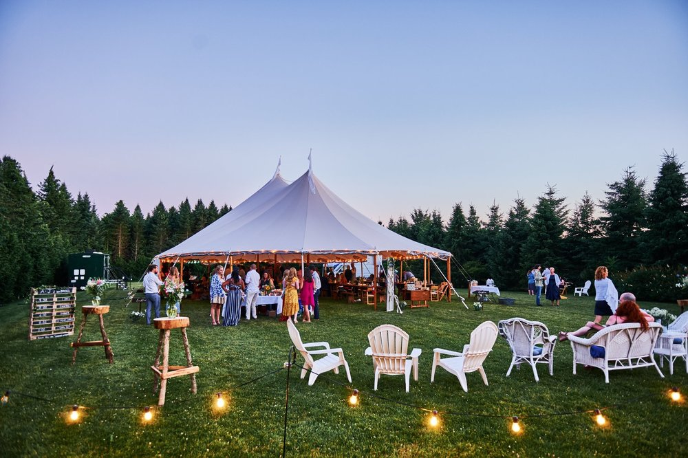 Tented outdoor wedding in Rhode Island at The Farmers Daughter - Pearl Weddings & Events