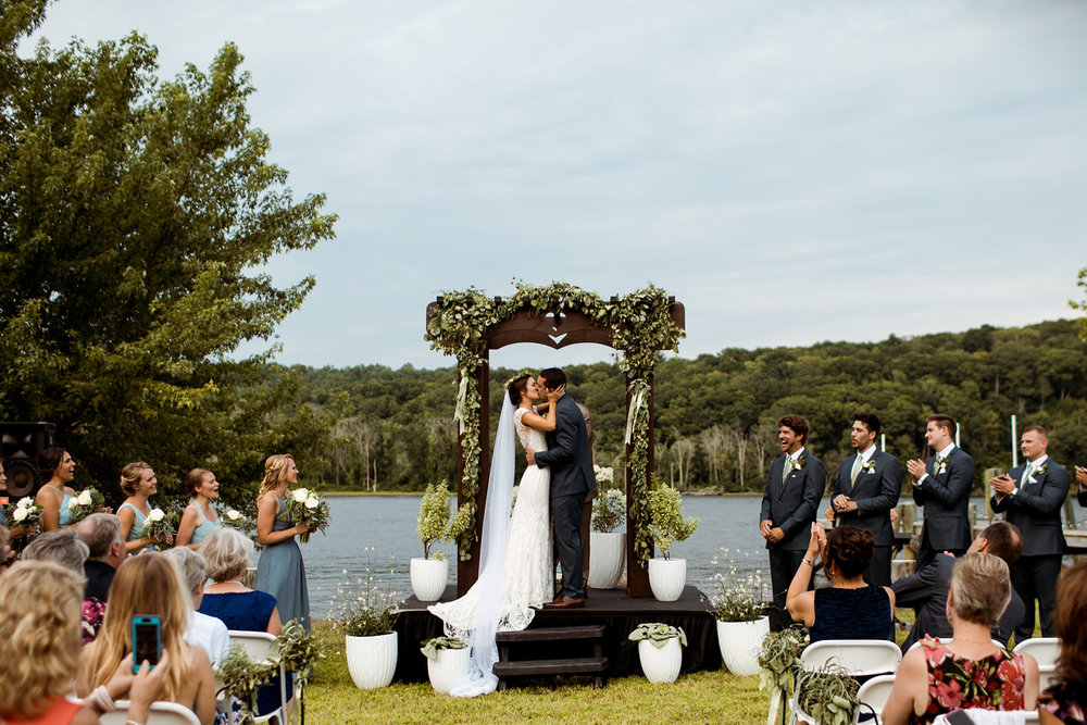 Sommar & Ben's wedding on the lake in Chester, Connecticut - Pearl Weddings & Events
