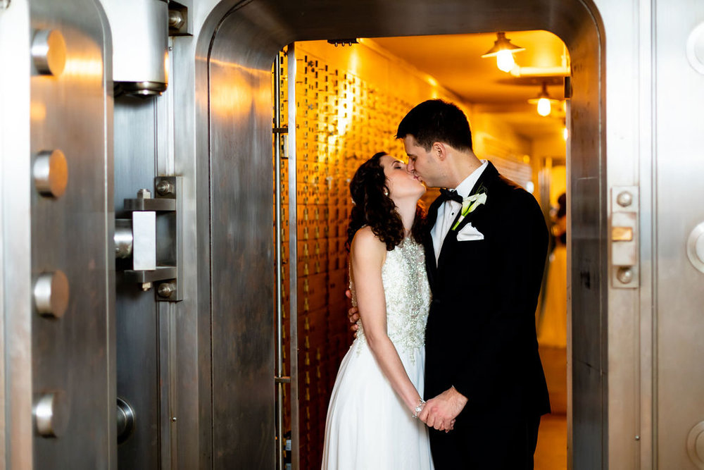 New Years Wedding at 19Main in their vault in New Milford, CT - Pearl Weddings & Events