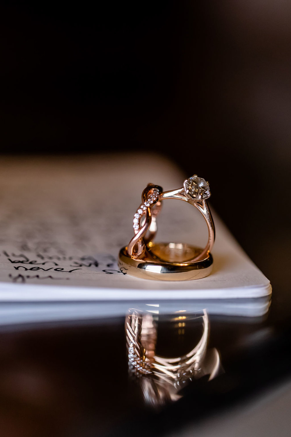 wedding vows in little books - Pearl Weddings & Events