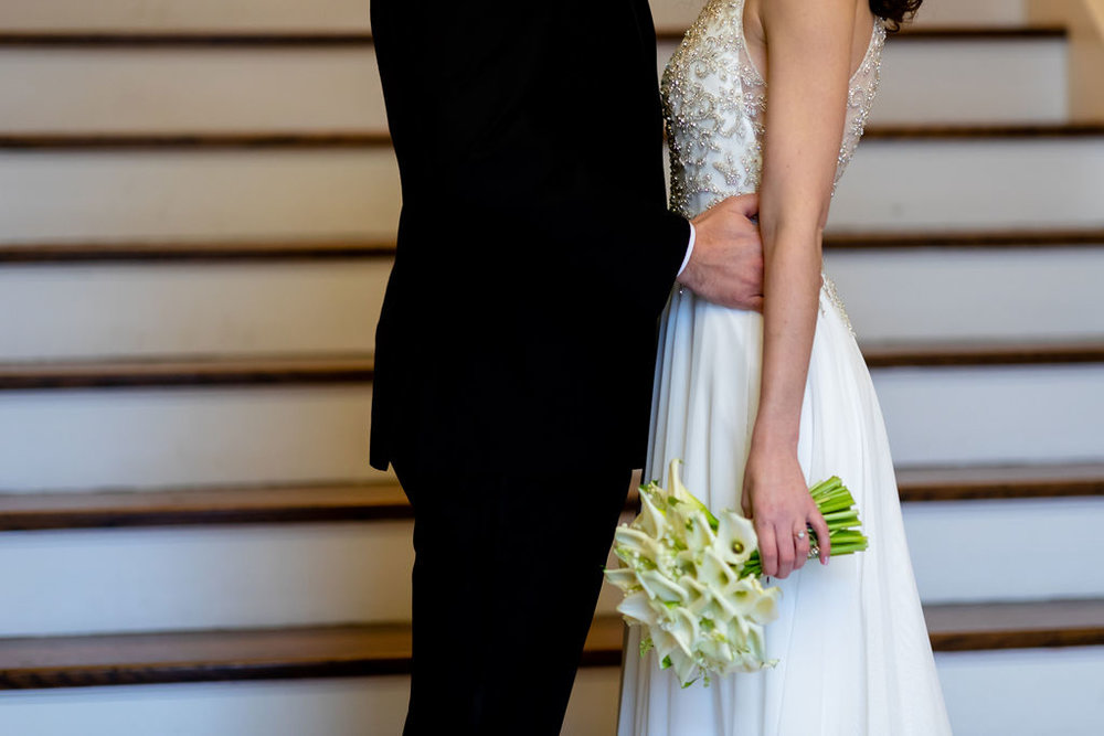 Bride and Groom at their historic wedding venue in New Milford, Connecticut - Pearl Weddings & Events