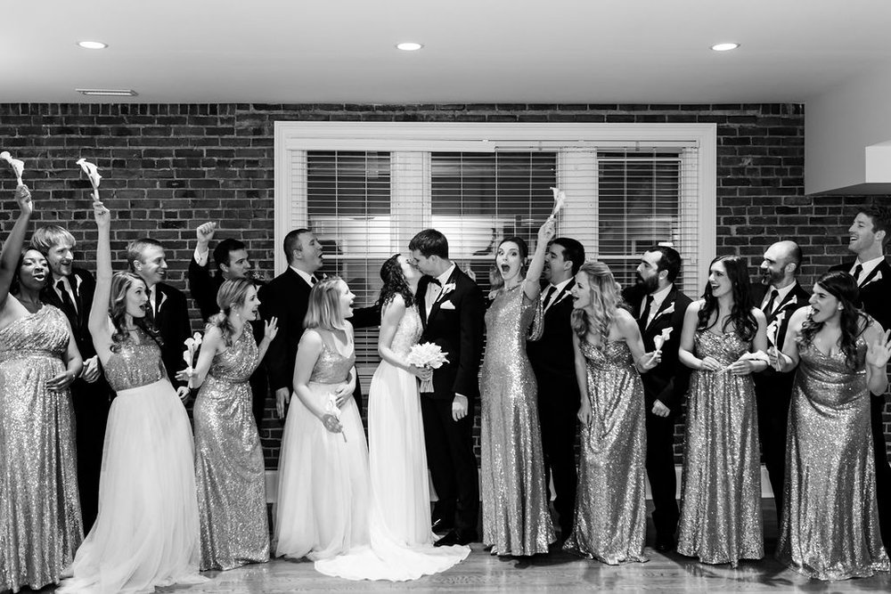 girl and boy bridal parties! - Pearl Weddings & Events
