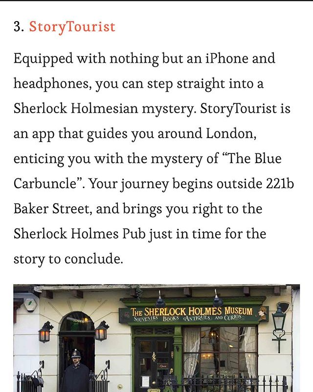 Check out @panmacmillan great blog tips on 5 Literary experiences to try out in @london 🕵🏻♂️🌟🕵🏻♀️ #sherlock #storytours #storytourist