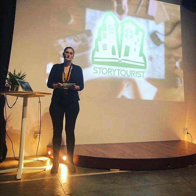 #Repost @ystadstudiosvisitorcenter ・・・ Day two of Mixed Reality! Harvey Edgington from #nationaltrust and Johanna Forsman, developer of app @storytourist 🕵🏼♀️
