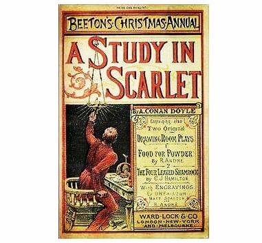 """🔷🔷🔷On this day 🔷🔷🔷 On March 4:th 1881 Sherlock Holmes receives his first case as recorded by Dr. John H Watson. The case is called """"A Study in Scarlet"""" and it was Arthur Conan Doyle's first novel about Sherlock. The novel was written in 1887 and got rejected by many publishers. Eventually, it appeared in Beeton's Christmas Annual, which didn't sell very well either. . . . #onthisday #onthisdayinhistory #onthisdayinliteraryhistory #storytourist #storytour #sherlockholmes #watson #sherlock #drwatson #doyle #arthurconandoyle #astudyinscarlet #author #crimeauthor #literature #book #booklover #booknerd #literaturelover"""