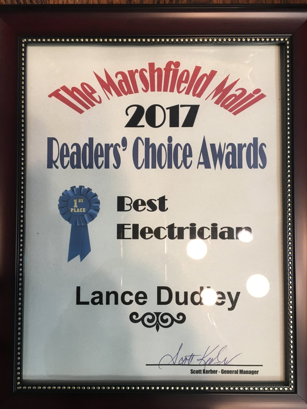 Lance - Best Electrician Marshfield Mail