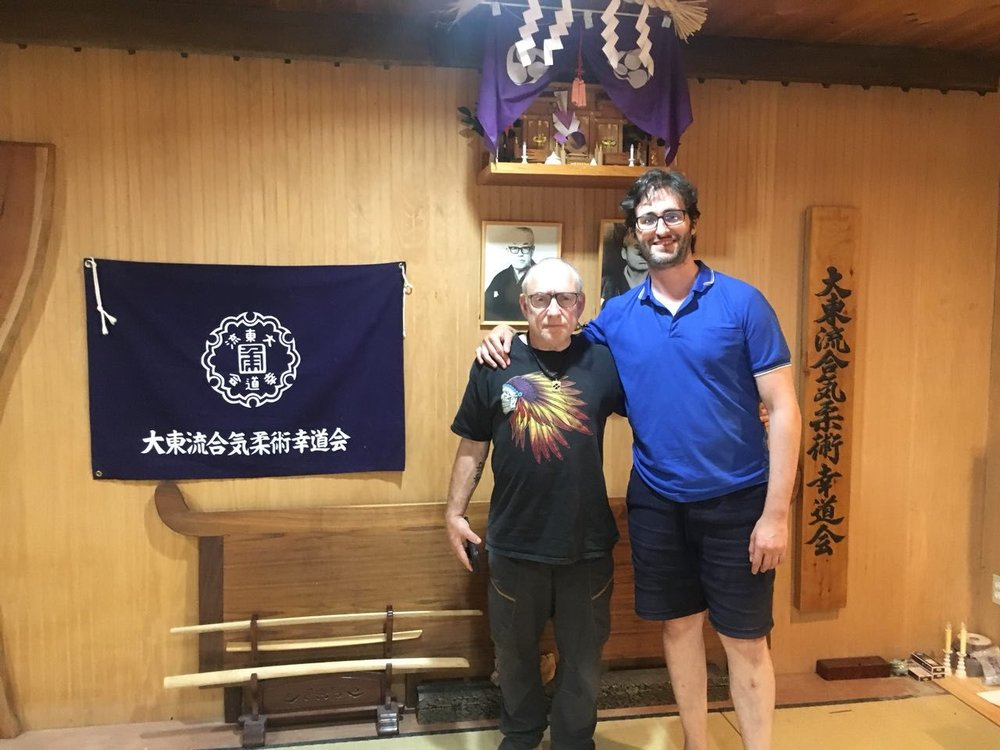 Goldberg Sensei along with the author of the interview at the Kiyamakan Dojo in Stamford, CT.