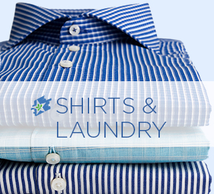 Shirt laundering   We begin with careful manual stain removal  for stains that can't be removed by machine washing. After washing, each shirt is individually finished, then inspected for missing or broken buttons that may need to be replaced. We will hang or fold & box your shirts, whichever you prefer.