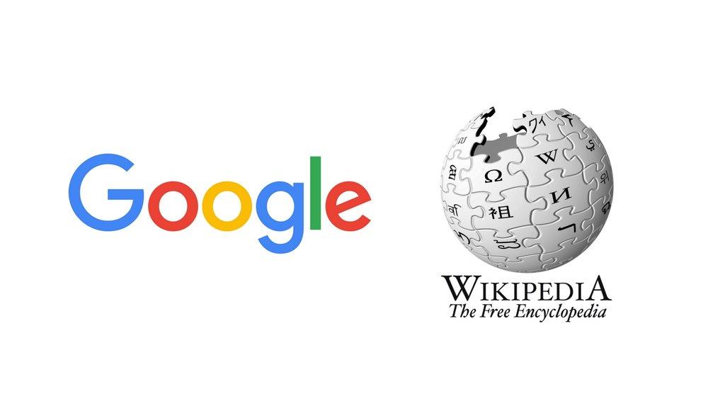 google + wikipedia