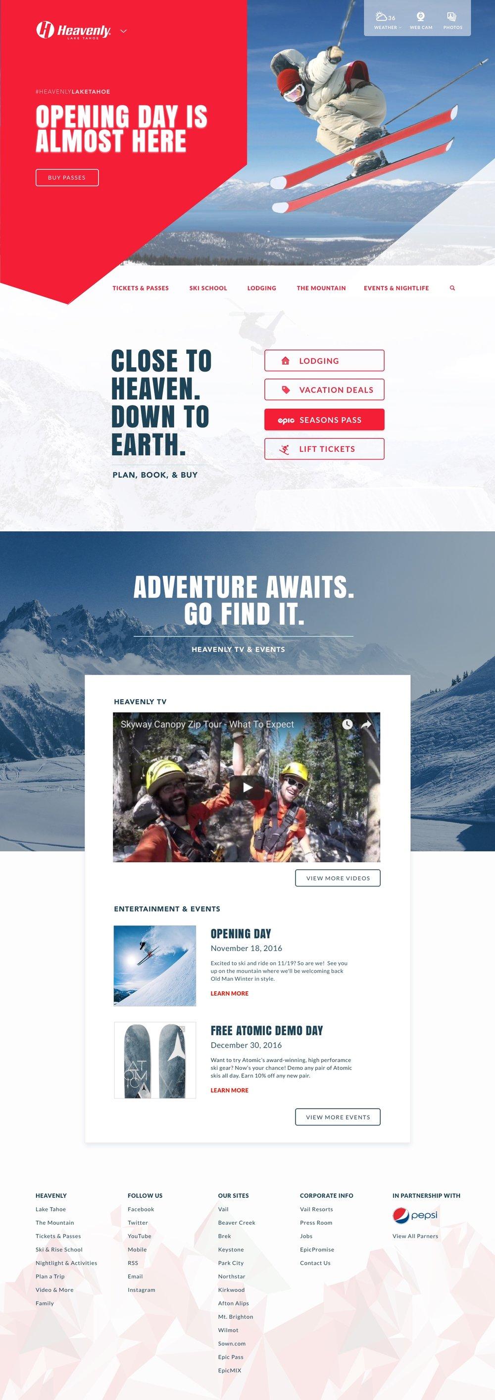 heavenly lake tahoe website