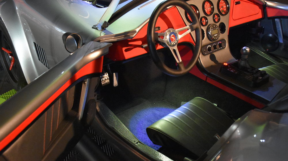 FormaCars interior Designed For London Cobra Club Charity Raffle   Displaying Interior, Gauges, HVAC, Light Controls, Stereo, Electric Parking Brake, Heated Seat Controls, Throttle Controls, Drive Modes, Interior  Lighting